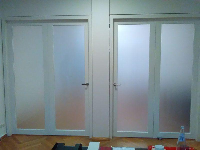 2flg. Falttür, weiß lackiert, Frontansicht