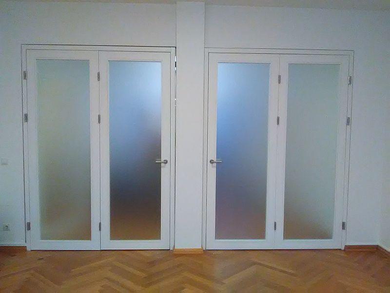 2 flg. Falttür, weiß lackiert, Rückansicht