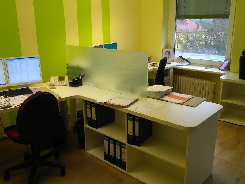 Büroschreibtisch, Span weiß