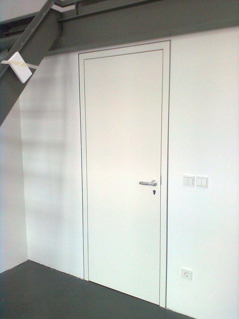 Zimmertür weiß, Lack, flächenbündig mit Wand