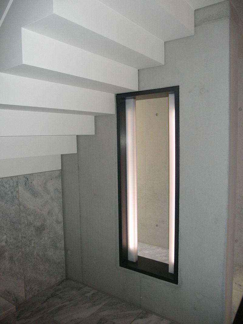 Lichtkasten im Treppenhaus, MDF, anthrazit lackiert
