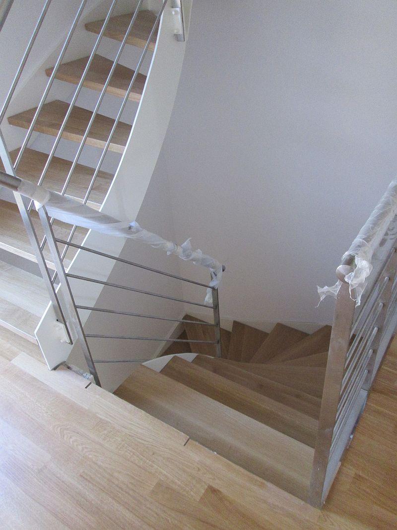 Treppenstufen aus Eiche - Detailansicht