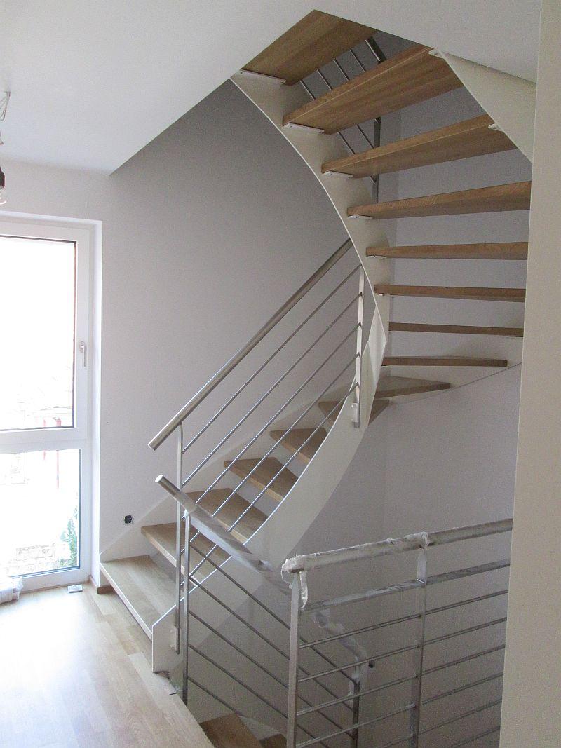 Treppenstufen aus Eiche - Gesamtansicht